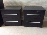 Black Gloss bedside cabinet x 2