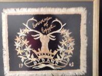 Very unusual flag framed of Gordon Hillander gift picture