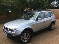 BMW X3 2.5se 2004 Metallic Silver Petrol Sunroof MOT Air Con Leather Seats CD Car