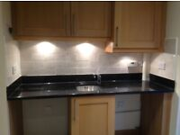 Granite Worktop Black Sparkly with Under Sink