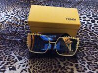 Fendi 3 color tones sunglasses brand new in original condition