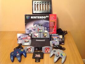 NINTENDO 64 CONSOLE 9 GAMES 2 CONTROLLERS & MORE
