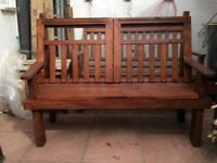 Hand made garden bench ,very strong , sturdy