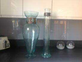 Large glass vases