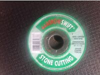 New stone cutting discs.