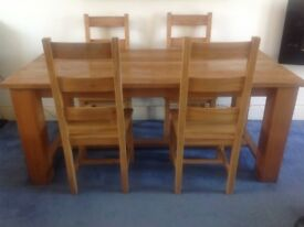 Stunning dining tables and four chairs FREE LOCAL DELIVERY