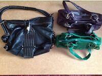 A variety of handbags