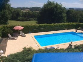 FRENCH HOUSE FOR SALE: heated pool, Gite and mountain views.
