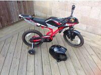 "Flight Moto-GP 16"" Kids' Bike with Stabilisers And Helmet"
