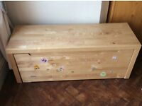 Wooden roll out storage box