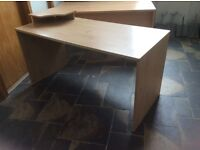 Light Oak Rectangle Reception Desk