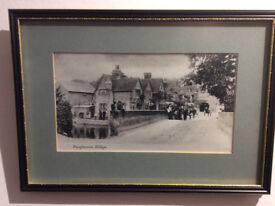 Two prints of old Pangbourne in Berkshire