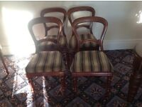 Dining chairs, they need re-upholstering