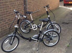 2 Apollo Contour folding bicycles.