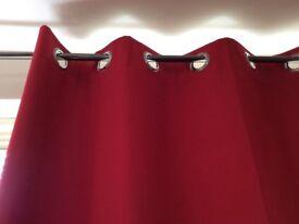 Red Black-out curtains width 168cm x drop 183cm