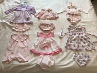 Baby girl outfits (0-6 months)