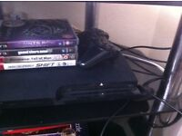Slim ps3 120gb 4 games, all cables, microphone headset £70