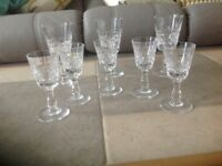 Pristine Royal Brierley Lead Crystal Glasses. COLLECTION ONLY
