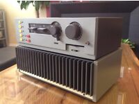 QUAD 405 POWER AMPLIFIER & QUAD 44 PRE AMP. HIGH END BRITISH. SUPERB SOUND & CONDITION. NO SPEAKERS.