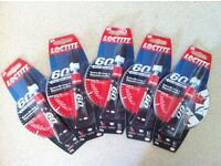5 tubes of Loctite 60 second all purpose glue 20g