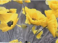 """Yellow poppy canvas bought in November 16 size 20""""x30"""" changed mind of colour for kitchen"""
