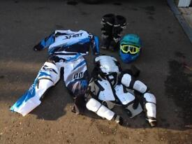 Motor cross clothing and boots (REDUCED)