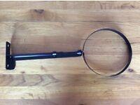 """Brand new vitreous enamel Matt black adjustable wall bracket for 5"""" flue."""