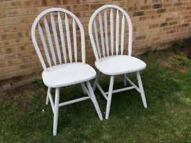 TWO DINING / SCATTER CHAIRS IN A FLINT FINISH