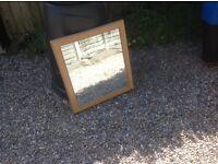 Wood effect mirror