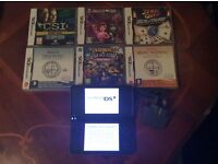 Nintendo dsi -xl with 6 games