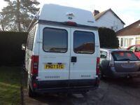 Peugeot Boxer Campervan 2007, 2 berth, low mileage, VGC