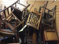 Job lot of 40 vintage chairs