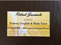 Primary tutor - tuition ks1 ks2 SATs