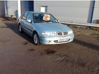 Rover 45 1.6 ixs 5 door hatchback with 82950 miles and mot unti 08 Feb 2018