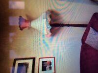 Fantastic Vintage/Downton/Deco/Traditional/Victorian Large Silk Lampshade.