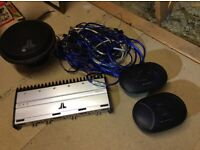 Amp sub speakers and cable