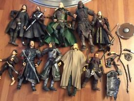 20 LORD OF THE RINGS ACTION FIGURES LOTR LEGLOAS LURTZ PIPPIN ETC