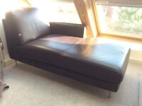 Chaise longue ikea brown leather