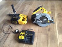 Dewalt 24V Circular Saw and Dewalt 24V Battery Drill N charger
