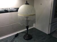 Art Deco figurine table lamp