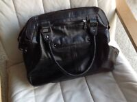 Large black handbag, not new but in excellent condition