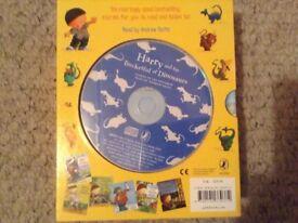 Hard back book set/ cd..Harry & the Bucket full of dinosaurs