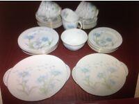 Royal Doulton 1930's Art Deco Porcelain China 40 Piece Tea Set in Marguerite