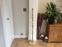 Vintage brass and onyx standard lamp