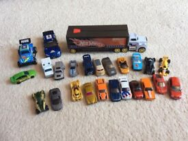 Hotwheels lorry and die cast cars