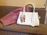 e45bef796 Genuine White radley handbag with dust bag and bracelet