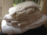 Used down and feather duvets for recycling
