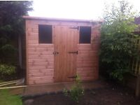 SHED 8ft x 4ft overlap timber