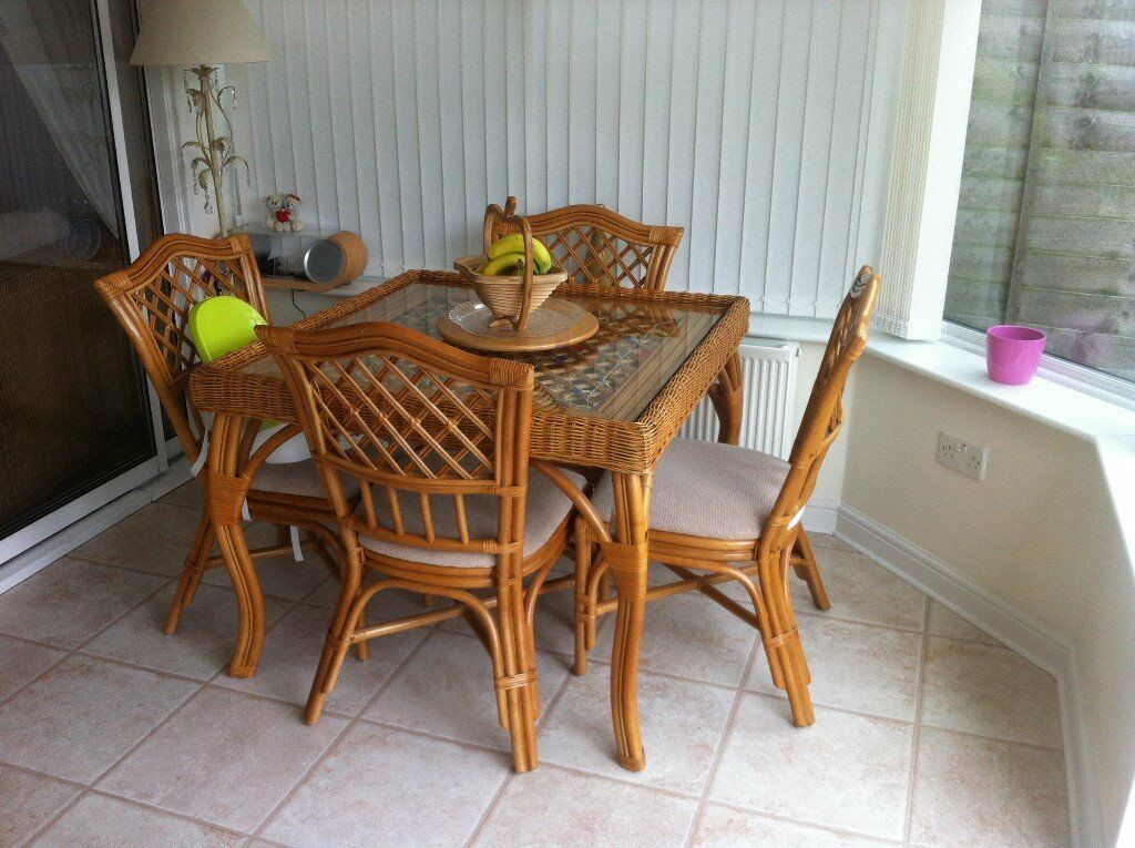 cane furniturein Newcastle, Tyne and WearGumtree - cane corner suite with beige cushions .also cane glass topped table 4 chairs also in beige. condition good