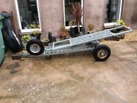 Galvanised towing dolly recovery trailer